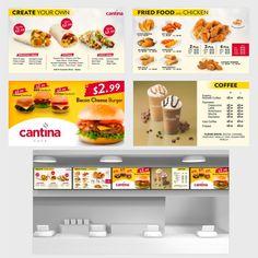 Create Digital Restaurant Menu Board Design by Zheikah Menu Board Design, Food Menu Design, Restaurant Menu Design, Menu Signage, Signage Design, Digital Menu Boards, Digital Board, Digital Signage, Japanese Menu