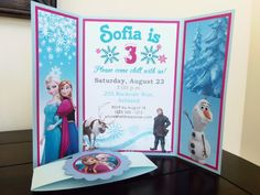 Items similar to Winter ONE-derland Folded Birthday Party Invitation with enclosure - First Birthday Party - Handmade Folded Invitation on Etsy Frozen Birthday Party, Birthday Cake Girls, Girl Birthday, Birthday Parties, Birthday Ideas, Frozen Party Invitations, Birthday Invitations, Jasmine Party, Childrens Party
