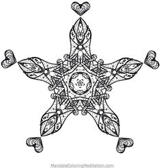 I`m very happy to share with you my newest printable adult mandala coloring page. This is the first one of a complete new series of adult mandala coloring pages. I really hope you like this advanced black and white mandala! Feel free to leave a comment. Detailed Coloring Pages, Printable Adult Coloring Pages, Mandala Coloring Pages, Coloring Pages To Print, Coloring Pages For Kids, Coloring Sheets, Coloring Books, To Color, Star Shape