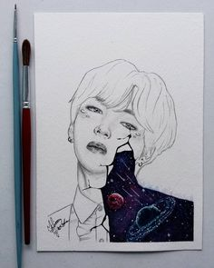 "Don't use/edit/repost my artwork without my permission!! Não use/edite/reposte meus desenhos sem minha permissão!! - Melissa (@mfr_arts) no Instagram: ""Happy birthday to our Kim Taehyung! The most adorable in the world. We purple you . . . Photo…"""
