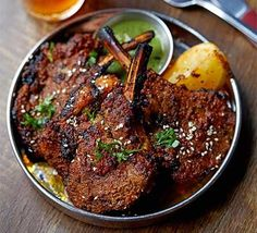 Try these crispy Indian lamb chops cooked Amritsari-style on the barbecue. Two marinades means it takes more time to prepare, but you'll achieve more flavour Lamb Chop Recipes, Meat Recipes, Cooking Recipes, Healthy Recipes, Tandoori Recipes, Healthy Food, Healthy Dishes, Rice Recipes, Cooking Tips