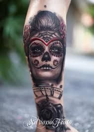 Znalezione obrazy dla zapytania santa muerte tattoo