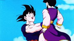 When Goku was a little too excited to see Chi-Chi again: