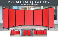 Want to accommodate a variety of applications? Our versatile room dividers could be just what you are looking for.