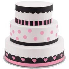 Polka Dots and Hearts Three-Tier Cake