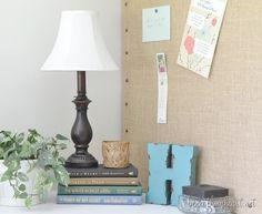 Decorative Burlap Memo Board