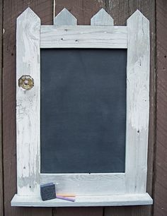 Chalk Board Rustic Country Chic Picket Fence by MiscKDesigns, $75.00