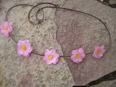Coachella flower crown halo light pink daisy with by triolette,