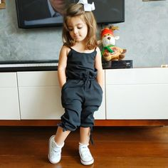 US Toddler Infant Baby Girl Solid Bib Pants Overall Romper Cotton Outfit Clothes Kids Dress Wear, Dresses Kids Girl, Little Girl Outfits, Kids Outfits Girls, Toddler Girl Outfits, Baby Outfits, Little Boy Style, Baby Girls Clothes, Girl Style