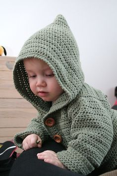 Free crochet pattern for baby hoodie …