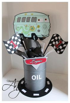 Disney cars centerpieces by Angieuniquecreations on Etsy, $30.00