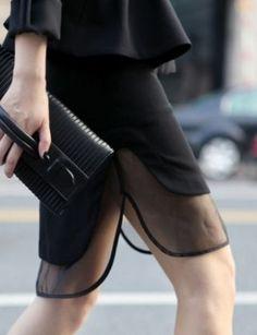 LUR Asymmetric Skirt With Mesh Detail Runway Clothing | The Latest Women Fashion Online Skirts. Pencil Skirts. Tailored Skirts & Mini Skirts | JESSICABUURMAN [1089] - $65.00 : JESSICABUURMAN.COM