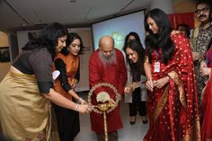 Lighting the lamp - inaugurating the show