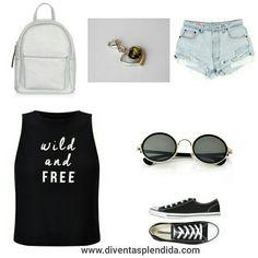 #outfit  #casual    #collana:::  http://www.gialloambra.it Segui 💖💖💖 +DiventaSplendida.com 💖💖💖