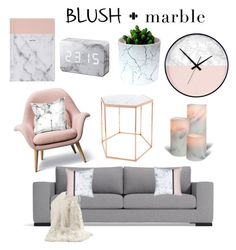 """""""blush and marble"""" by czanneeula on Polyvore featuring interior, interiors, interior design, home, home decor, interior decorating, Bloomingville, Best Home Fashion, homedecor and blushmarble"""