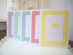 elephant thank you cards baby shower thank you by JDooreCreations, $7.50