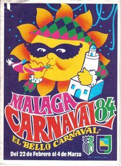 Cartel del carnaval de Málaga del año 1984