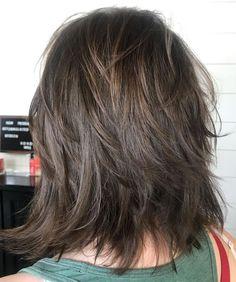 60 Most Universal Modern Shag Haircut Solutions Dynamic Feathered Brunette Shag Medium Layered Haircuts, Medium Hair Cuts, Short Hair Cuts, Medium Hair Styles, Curly Hair Styles, Long Shaggy Haircuts, Medium Hair With Layers, Shaggy Layered Haircut, Medium Fine Hair