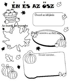 Töltse ki a kért információkkal az őszről! School Frame, Autumn Crafts, School Hacks, Fall Halloween, Special Education, Games For Kids, Kids Learning, Kids Playing, Kindergarten