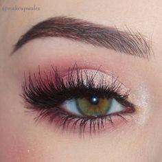Glitter Eye Makeup, Pink Makeup, Cute Makeup, Gorgeous Makeup, Dress Makeup, Awesome Makeup, Simple Makeup, Makeup Art, Pink Wedding Makeup