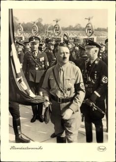 Magnificent photo of Adolf Hitler (with Himmler) at the 1934 Reich Party Rally in Nuremberg.