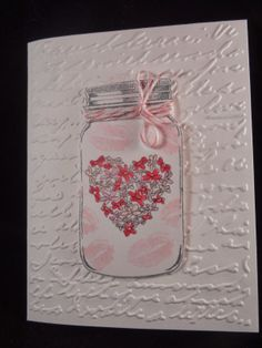 Uniquely Me: Jar full of kisses sweet and simple