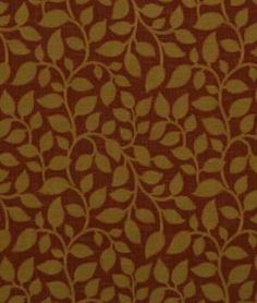 Robert Allen Contract Swaying Vine Habanero - $25.55 | onlinefabricstore.net