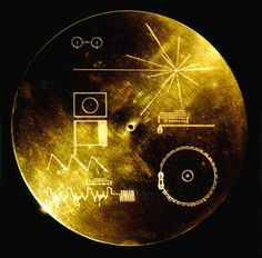 The Gold Record: Humanity on one record floating round in space.