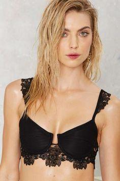 For Love & Lemons Barcelona Lace Bikini Top