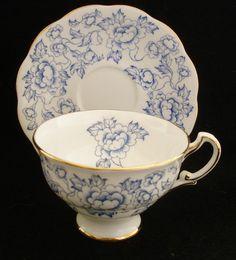 Vintage Royal Standard Footed Tea Cup Saucer Set Blue Floral Gold Bone | eBay Cup And Saucer Set, Tea Cup Saucer, Tea Sets, Old Toys, Teacups, White Porcelain, Tea Time, Blue And White, China