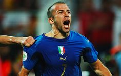 Alessandro Del Piero of Juventus takes Italy into the finals of the 2006 World Cup after scoring an overtime goal against Germany