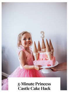 The Effective Pictures We Offer You About diy birthday first A quality picture can tell you many things. You can find the most beautiful pictures that can be presented to you about diy birthday baby i Castle Birthday Cakes, Diy Birthday Cake, Girl Birthday, Princesse Party, Nella The Princess Knight, Bolo Minnie, Kale Pasta, Cake Hacks, Disney Princess Birthday