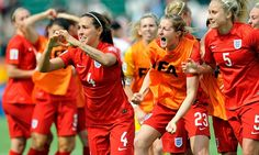 England's Fara Williams celebrates her winning goal against Germany in the Women's World Cup third-place play-off in Edmonton, Canada.