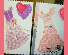 Handmade Wishing Cards Dresses From Little Cup Cakes Forms