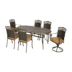 Attrayant Walmart: Kennedy 7 Piece Patio Dining Set, Seats 6 | Patio | Pinterest |  Patio Dining Sets, Dining Sets And Walmart