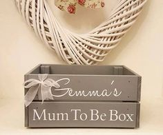 Personalised MUM TO BE crate Wooden Books by Littlelightstudios