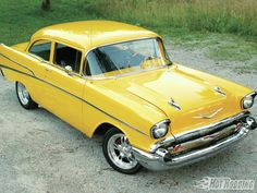 The Top 41 Hottest Muscle Cars In Your Garages - Popular Hot Rodding Magazine - Hot Rod 1957 Chevy Bel Air, Chevrolet Bel Air, Rat Rods, Classic Trucks, Classic Cars, Vintage Cars, Antique Cars, Super Images, Gm Car