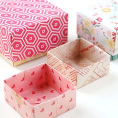 EASY PEASY DIY ORIGAMI GIFT BOXES #origami #papercrafts #paper #scrapbook #giftbox Origami Gift Box, Diy Origami, Malu, Easy Peasy, Decorative Boxes, Gift Boxes, Paper Crafts, Scrapbook, Fancy