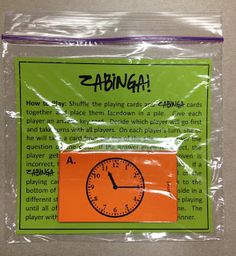 I Love 2 Teach: ZABINGA! Telling Time Game with 5 Levels