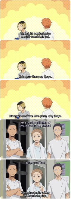 Awww, I love Kenma and Hinata's friendship! (and proud mom Yaku)