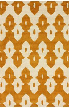 Rugs USA Tuscan Palace Ikat Trellis Mustard Rug