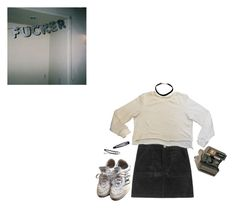 """""""oh please understand"""" by sannairone ❤ liked on Polyvore featuring H&M, Polaroid, grunge and nymphet"""