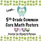 """Here are the Math """"I Can"""" statements you have been waiting for. They are the same theme/colors as the Language Arts posters I have produced.     Many..."""