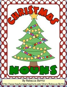 Christmas Nouns Worksheet - Rebecca Bettis - TeachersPayTeachers.com