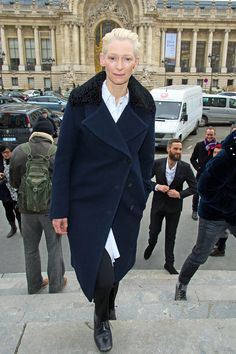 Tilda Swinton at Acne Fall/Winter 12.13, March 2nd