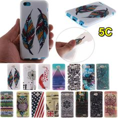 New Arrival 5C Phone Cases Fashion Flower/Flag/Owl TPU Silicone Case for iPhone 5C Soft Back Cover Capa Para Fundas Coque TX