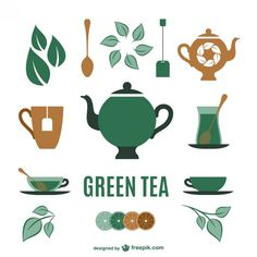 Tea Elements Collection Free Vector