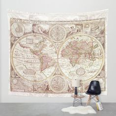 An Accurate Map Wall Tapestry by Catherine Holcombe | Society6