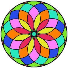En colores Mandala Design, Mandala Art, Mandalas Drawing, Soul Art, Mosaic Projects, Stained Glass Patterns, Mandala Coloring, Rangoli Designs, Geometric Art