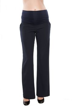 Maternal America Audrey Relax Fit Maternity Trousers | Maternity Clothes  Best selection of professional maternity clothes on the web!  Available at Due Maternity  www.duematernity.com